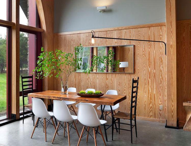 Linear dining room lighting