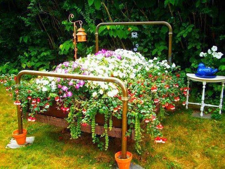 Дизайн цветочной клумбы