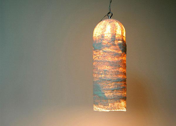 Подвесной светильник из гипса